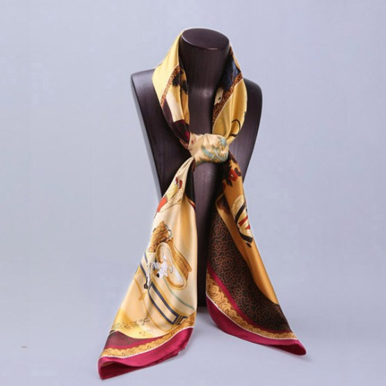 110cm Silk Scarf-Square Silk Scarf-Wholesale Scarfs-HA0013C