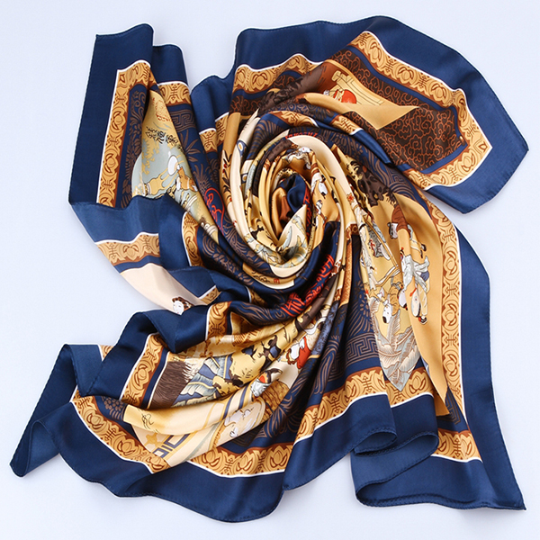 110cm Silk Scarf-Square Silk Scarf-Wholesale Scarfs-HA0013C1