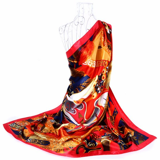 110cm Silk Scarf-Square Silk Scarf-Wholesale Scarfs-HA0015B1