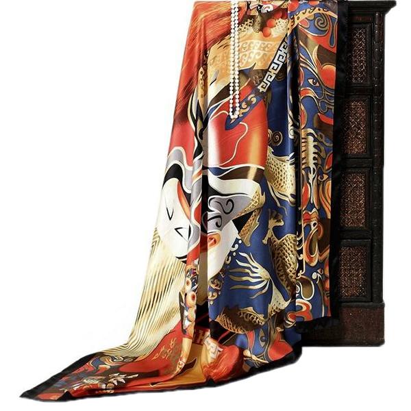 110cm Silk Scarf-Square Silk Scarf-Wholesale Scarfs-HA0015B2