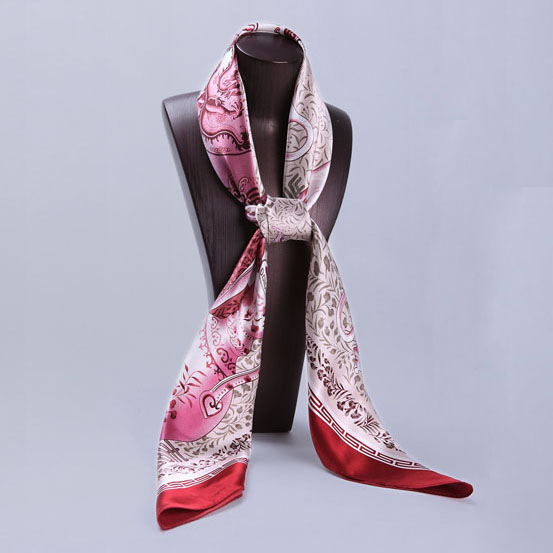 110cm Silk Scarf-Square Silk Scarf-Wholesale Scarfs-HA0016A