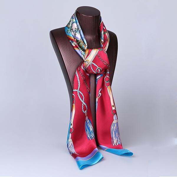 110cm Silk Scarf-Square Silk Scarf-Wholesale Scarfs-HA0017A