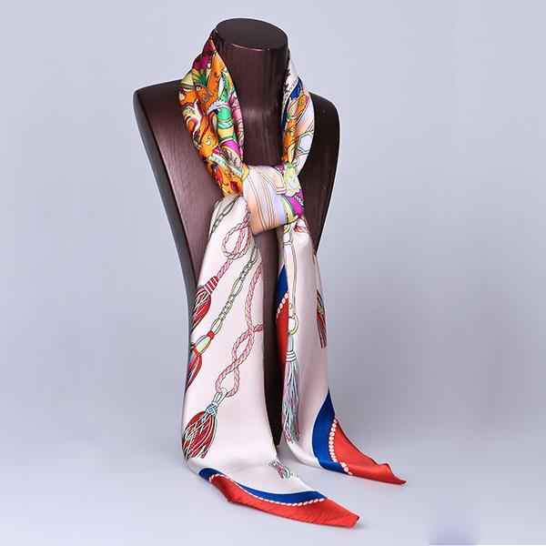 110cm Silk Scarf-Square Silk Scarf-Wholesale Scarfs-HA0017C