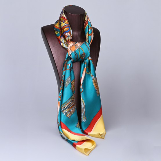 110cm Silk Scarf-Square Silk Scarf-Wholesale Scarfs-HA0017D