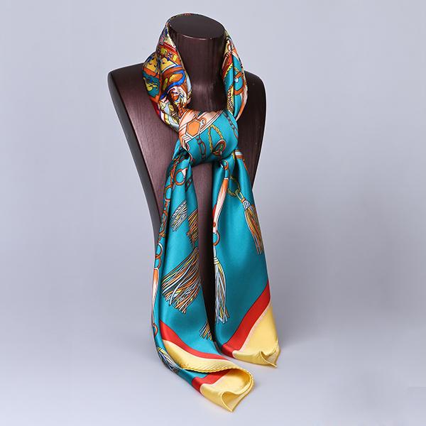 110cm Silk Scarf-Square Silk Scarf-Wholesale Scarfs-HA0017D