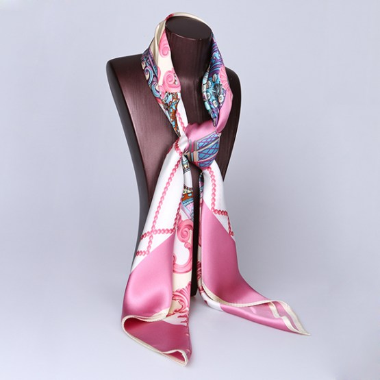 110cm Silk Scarf-Square Silk Scarf-Wholesale Scarfs-HA0018A
