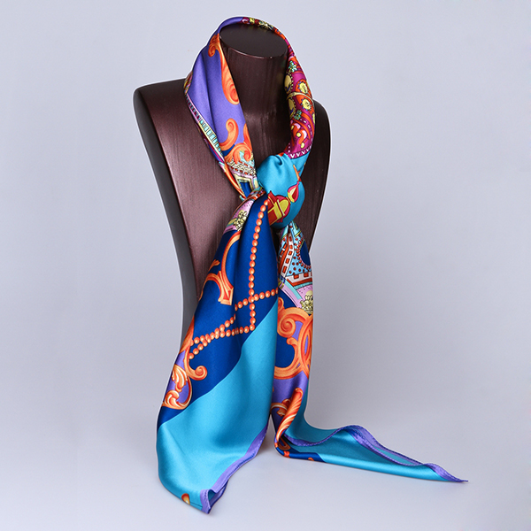 110cm Silk Scarf-Square Silk Scarf-Wholesale Scarfs-HA0018B