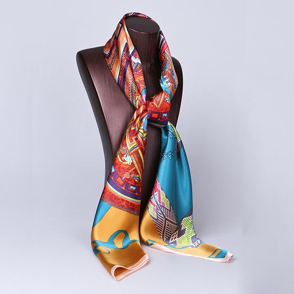 110cm Silk Scarf-Square Silk Scarf-Wholesale Scarfs-HA0019C