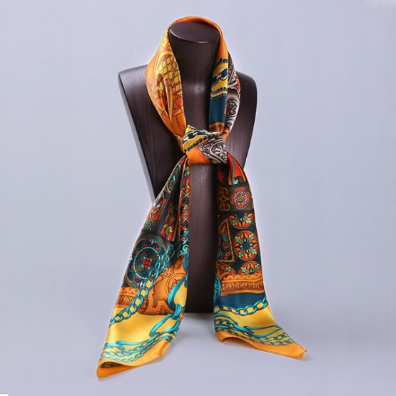 110cm Silk Scarf-Square Silk Scarf-Wholesale Scarfs-HA0021A