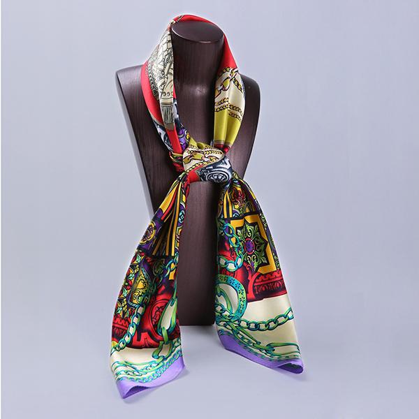 110cm Silk Scarf-Square Silk Scarf-Wholesale Scarfs-HA0021D