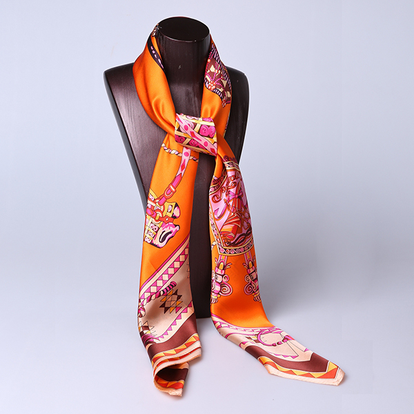 110cm Silk Scarf-Square Silk Scarf-Wholesale Scarfs-HA0022B