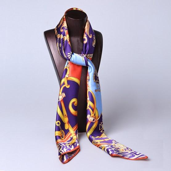 110cm Silk Scarf-Square Silk Scarf-Wholesale Scarfs-HA0024A