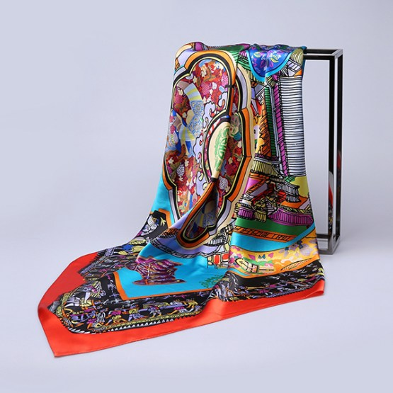 110cm Silk Scarf-Square Silk Scarf-Wholesale Scarfs-HA0025A