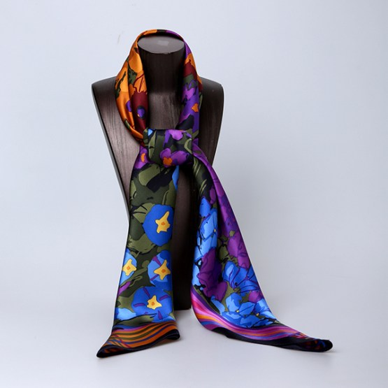 110cm Silk Scarf-Square Silk Scarf-Wholesale Scarfs-HA0026B