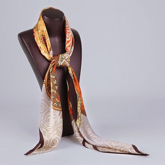 110cm Silk Scarf-Square Silk Scarf-Wholesale Scarfs-HA0031A