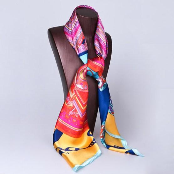 110cm Silk Scarf-Square Silk Scarf-Wholesale Scarfs-HA0033B