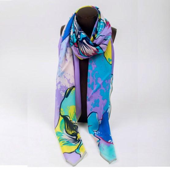 120cm Silk Scarf-Square Silk Scarf-Wholesale Scarfs-HAQ001C