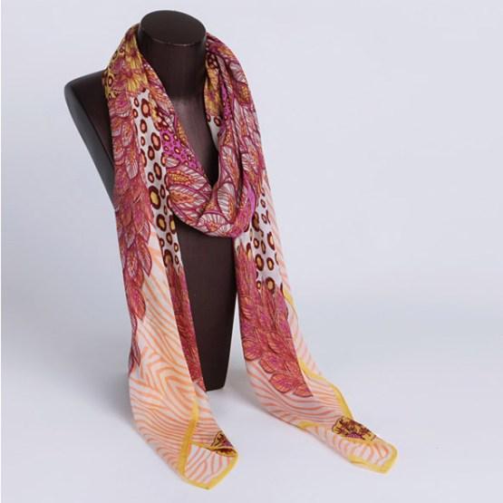 120cm Silk Scarf-Square Silk Scarf-Wholesale Scarfs-HAQ002A