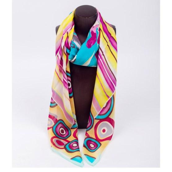 120cm Silk Scarf-Square Silk Scarf-Wholesale Scarfs-HAQ003D
