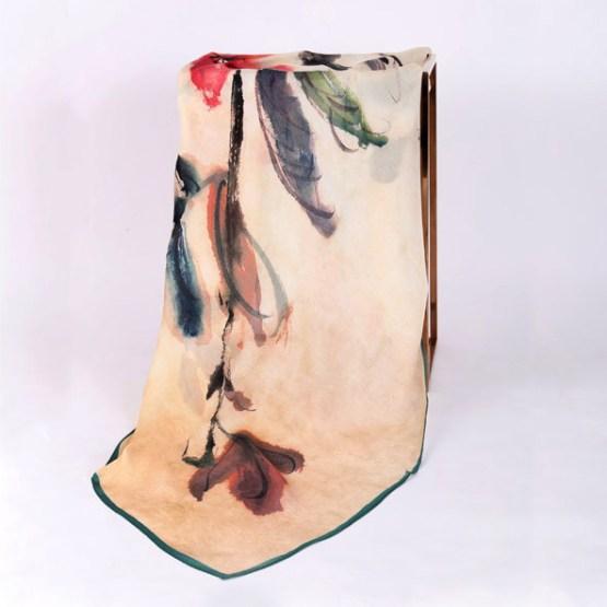 120cm Silk Scarf-Square Silk Scarf-Wholesale Scarfs-HAQ012A
