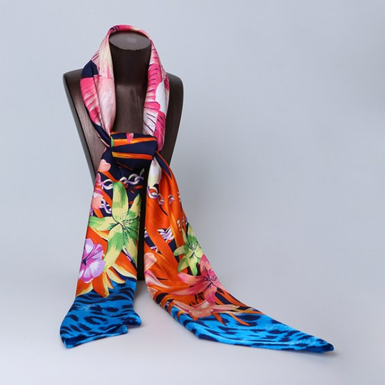 140cm Silk Scarf-Square Silk Scarf-Wholesale Scarfs-AAS005C