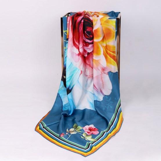 140cm Silk Scarf-Square Silk Scarf-Wholesale Scarfs-AAS009