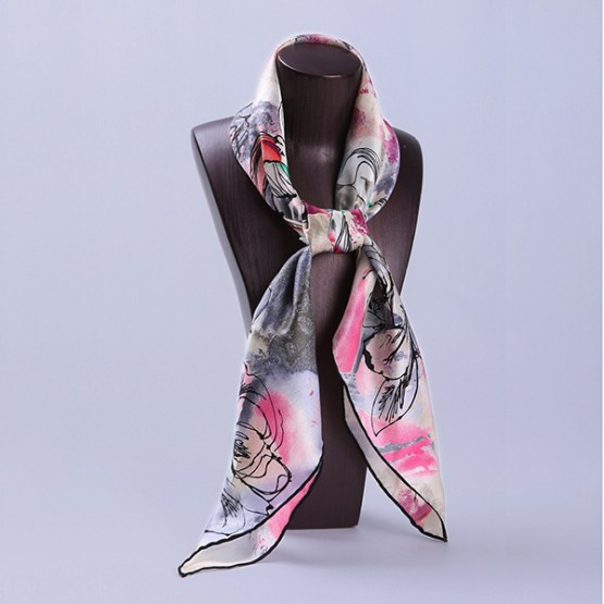 90cm Silk Scarf-Square Silk Scarf-Wholesale Scarfs-HA612A