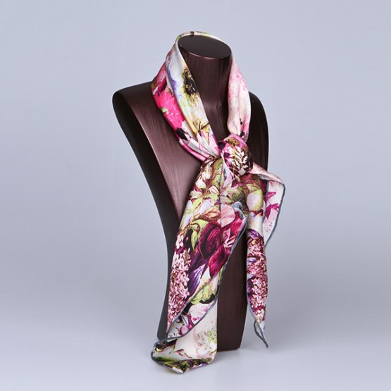 90cm Silk Scarf-Square Silk Scarf-Wholesale Scarfs-HA615A