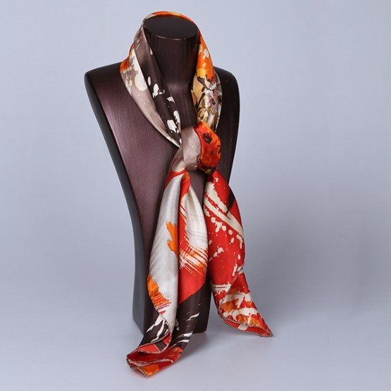 90cm Silk Scarf-Square Silk Scarf-Wholesale Scarfs-HA616A