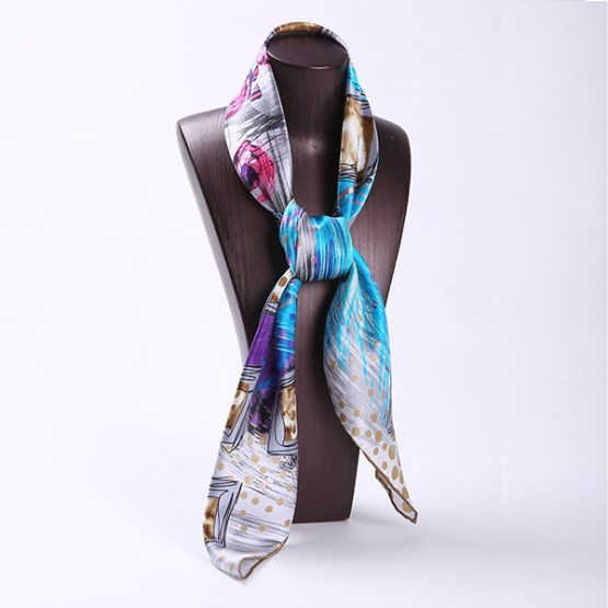 90cm Silk Scarf-Square Silk Scarf-Wholesale Scarfs-HA617C