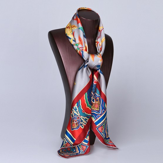 90cm Silk Scarf-Square Silk Scarf-Wholesale Scarfs-HA619A