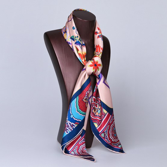 90cm Silk Scarf-Square Silk Scarf-Wholesale Scarfs-HA619B