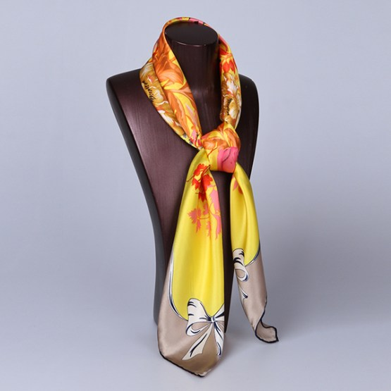 90cm Silk Scarf-Square Silk Scarf-Wholesale Scarfs-HA622B