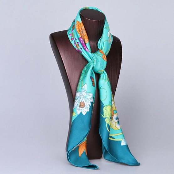 90cm Silk Scarf-Square Silk Scarf-Wholesale Scarfs-HA626B