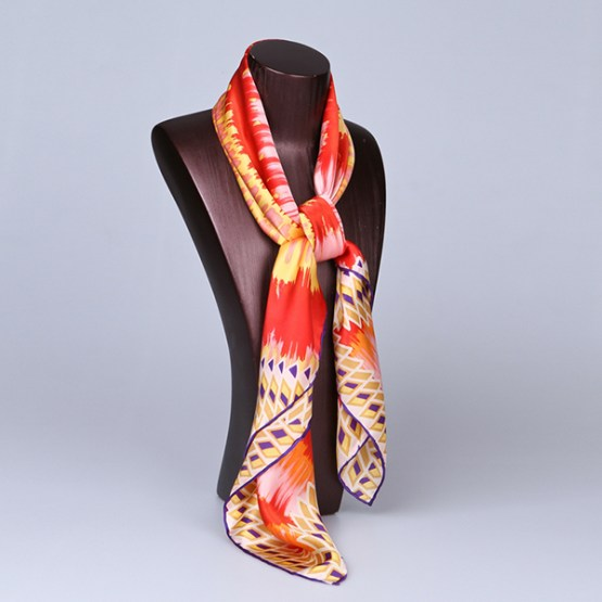 90cm Silk Scarf-Square Silk Scarf-Wholesale Scarfs-HA628A