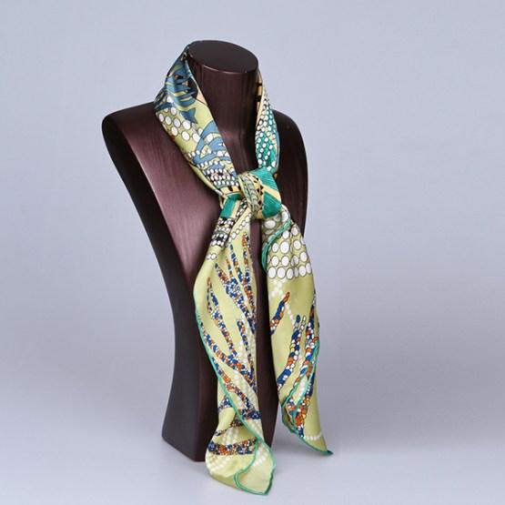 90cm Silk Scarf-Square Silk Scarf-Wholesale Scarfs-HA629A