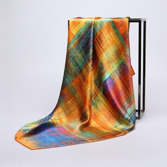 90cm Silk Scarf-Square Silk Scarf-Wholesale Scarfs-HA637A
