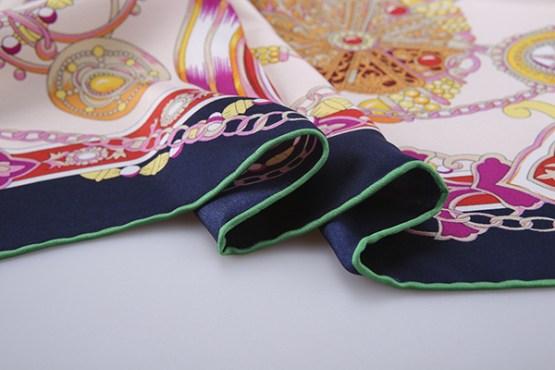90cm Silk Scarf-Square Silk Scarf-Wholesale Scarfs-HA638A2