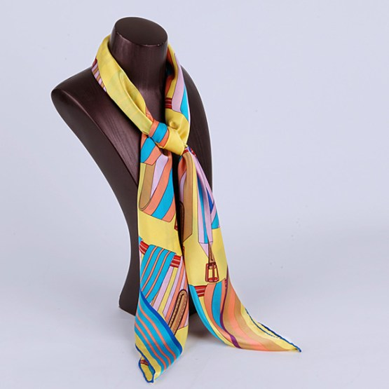 90cm Silk Scarf-Square Silk Scarf-Wholesale Scarfs-HA639A