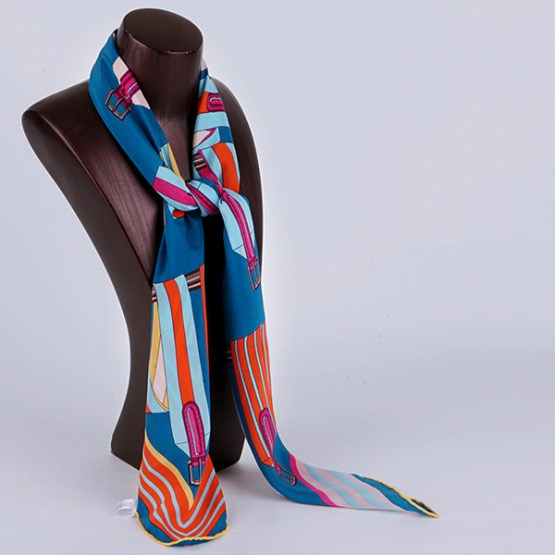 90cm Silk Scarf-Square Silk Scarf-Wholesale Scarfs-HA639C