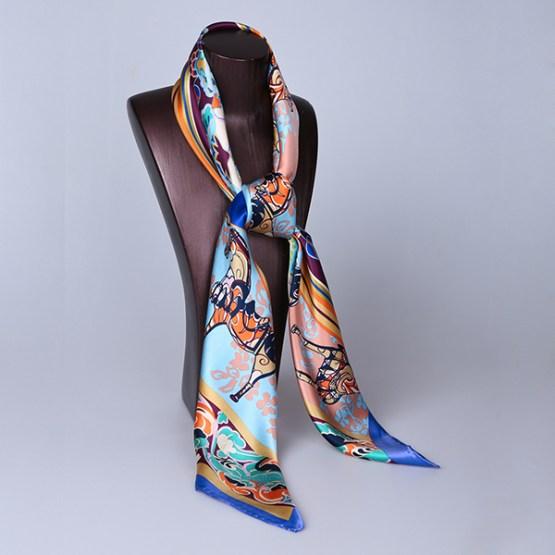 90cm Silk Scarf-Square Silk Scarf-Wholesale Scarfs-HA642