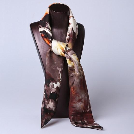 90cm Silk Scarf-Square Silk Scarf-Wholesale Scarfs-HA7011D