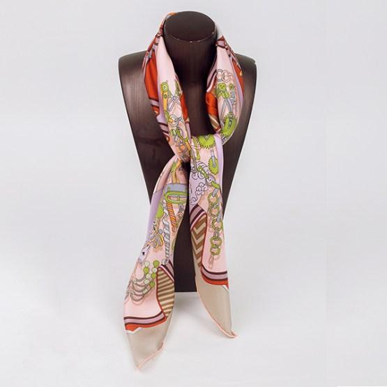90cm Silk Scarf-Square Silk Scarf-Wholesale Scarfs-HA7016A