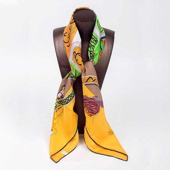 90cm Silk Scarf-Square Silk Scarf-Wholesale Scarfs-HA7017A
