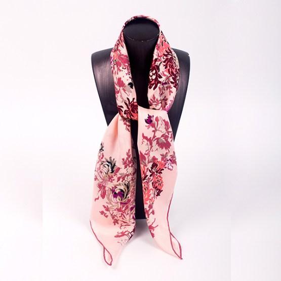 90cm Silk Scarf-Square Silk Scarf-Wholesale Scarfs-HA7018A