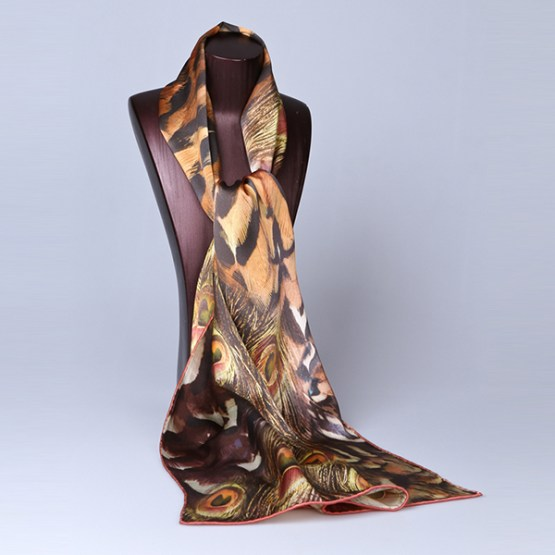 Long Silk Scarf-Digital Silk Scarf-Silk Scarf China-ALL010A