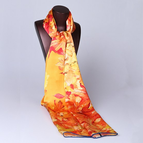 Long Silk Scarf-Digital Silk Scarf-Silk Scarf China-ALL012