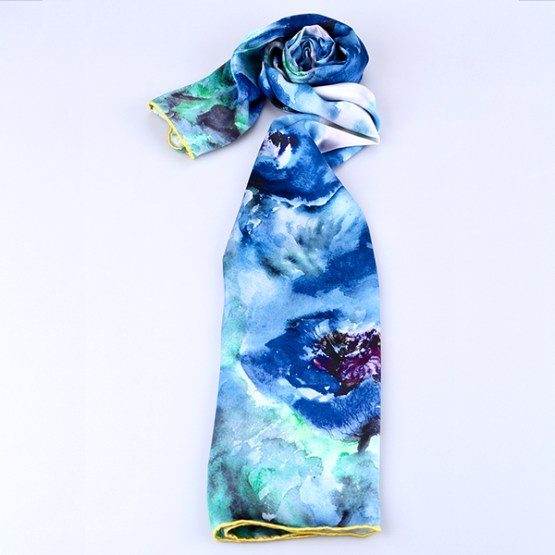 Long Silk Scarf-Digital Silk Scarf-Silk Scarf China-ALL013A