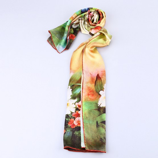 Long Silk Scarf-Digital Silk Scarf-Silk Scarf China-ALL017A