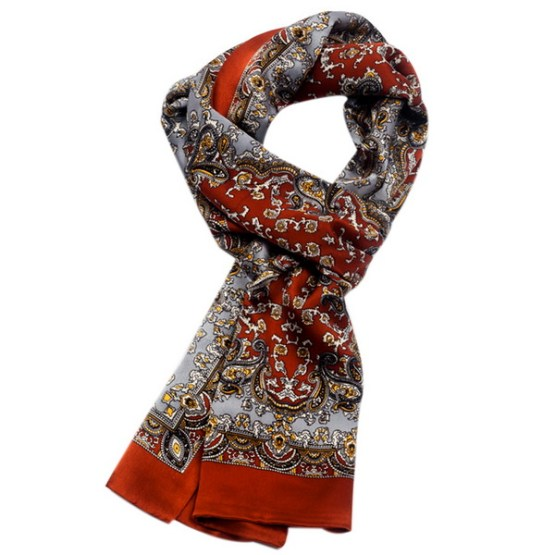 Mens Silk Scarf-Double Layers MSSD01